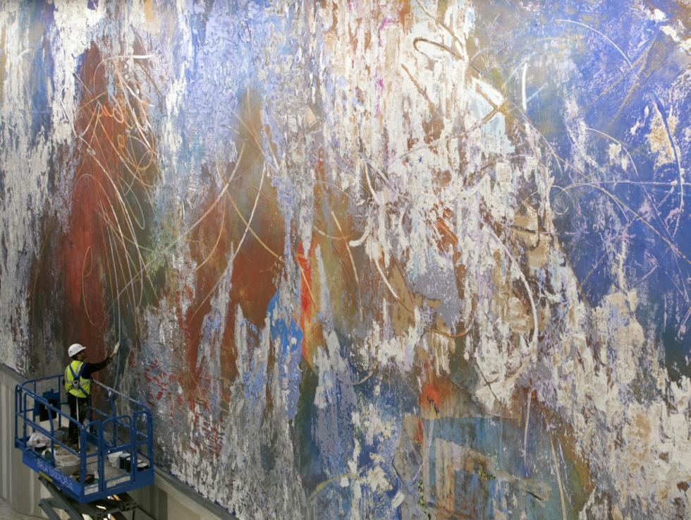 Austin, Amistad América mural at UT, January 2018