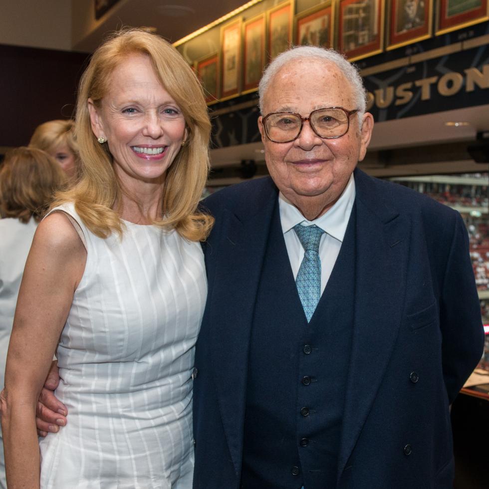 12 Susan Krohn and Fayez Sarofim at the Houston Texans Owner's Suite party at NRG Stadium September 2014