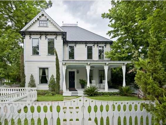 Elijah Wood Victorian Bouldin Creek house front exterior