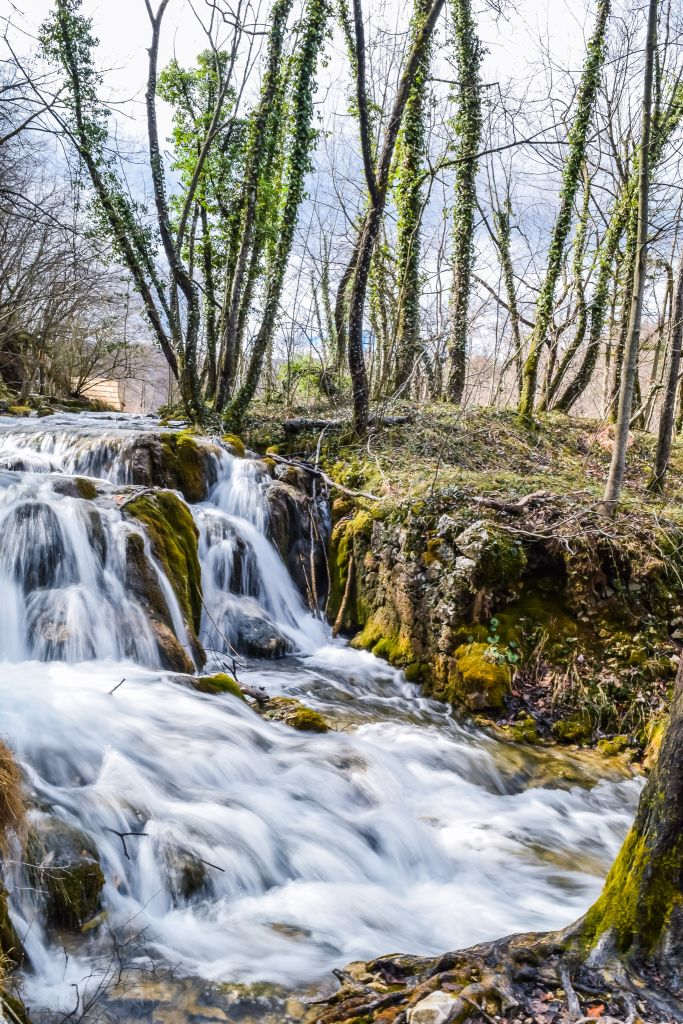 One of over 90 waterfalls in Plitvice Lakes