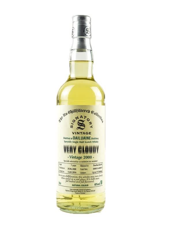 Dailuaine 2008 Very Cloudy Ecosse   Speyside Single Malt 40°