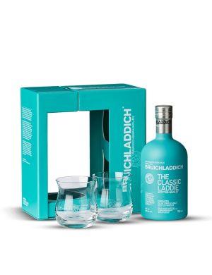 Coffret Bruichladdich The Classic Laddie Ecosse / Islay Single Malt 50° + 2 verres