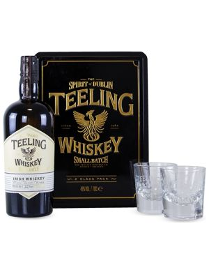 Coffret Teeling Small Batch Irlande Blended 46° + 2 verres