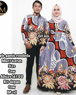 Couple Gamis Rosebela Ungu