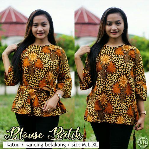 Blouse Batik Kantor BT M09