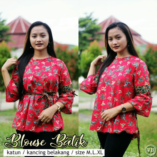 Blouse Batik Kantor BT M06