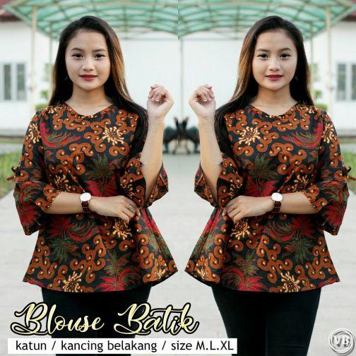 Blouse Batik Kantor BT M01