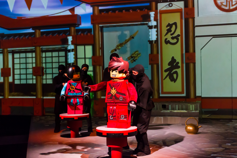 LEGO Ninjago live show is available in the theme park.