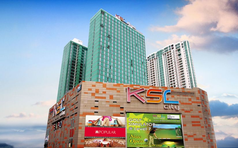 Malaysia Johor famous shopping mall - KSL City Mall. Crowded shopping center to be visit.