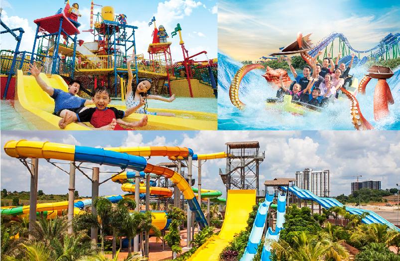 Legoland Water Park, Desaru Coast Adventure Waterpark & Austin Heights Water & Adventure Park is located in Johor.