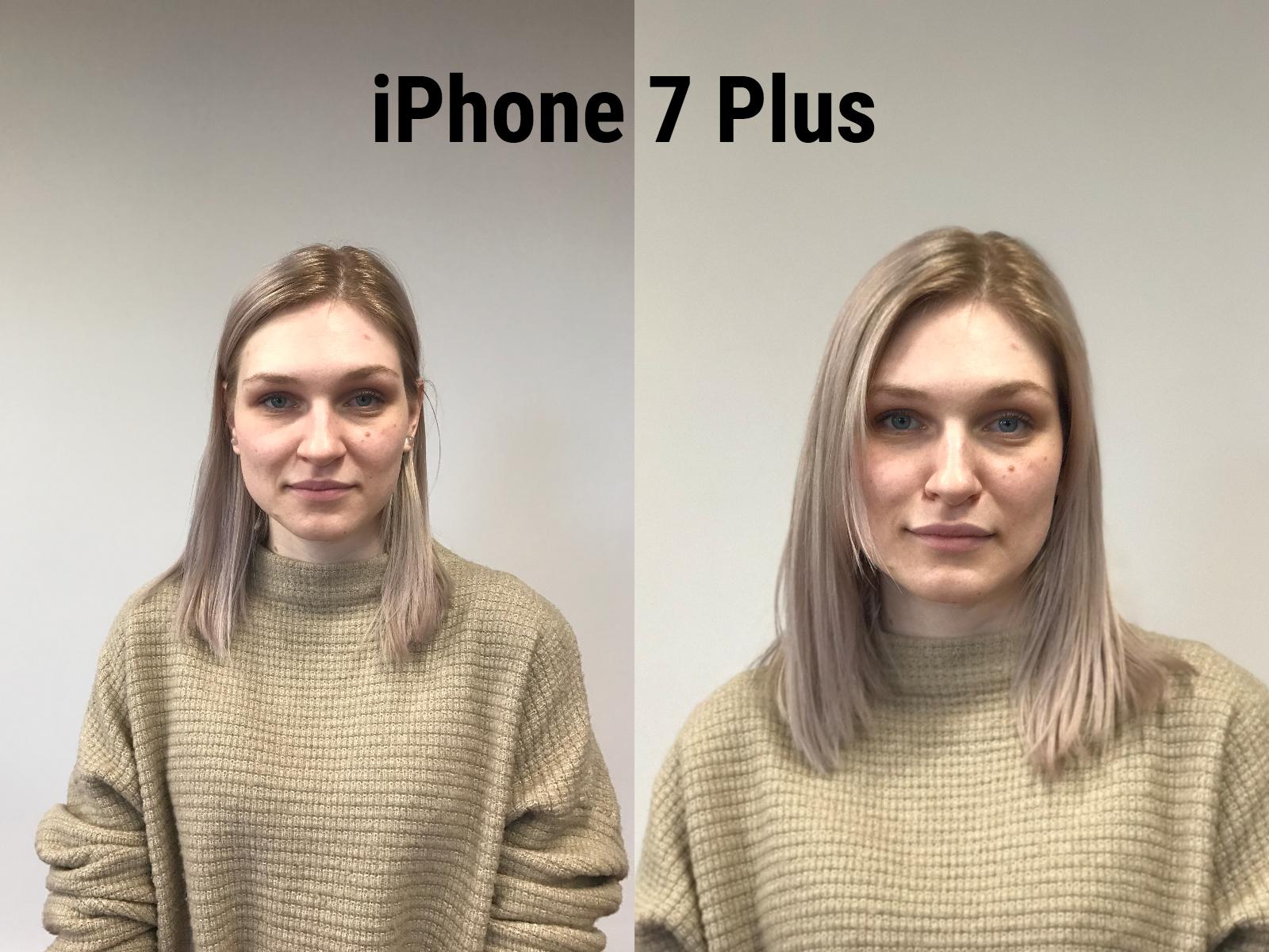 Две фотографии девушки со светлыми волосами в светлом свитере