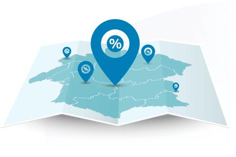 Taux immobiliers actuels région par région