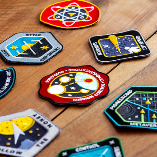 Embroidered patches complete pack