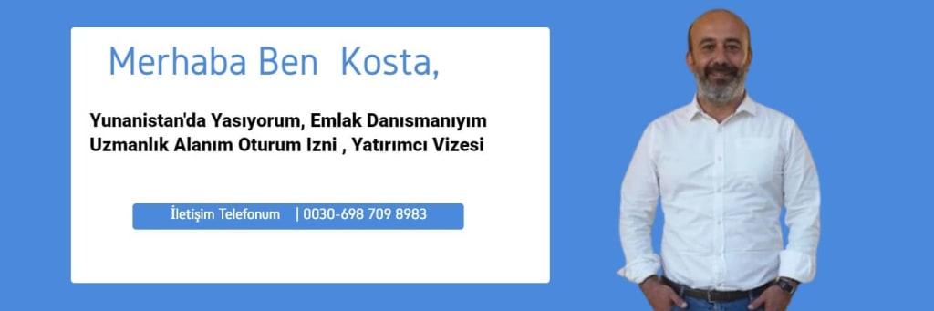 Yunanistan Emlak ve Oturum İzni Danışmanı Kosta Arslanoglu