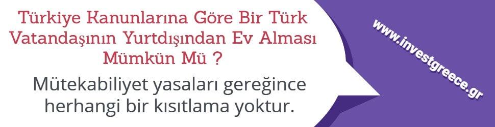 Türkiye Türk Vatandaşlarının Yurtdışından Ev Almasına Müsade Ediyor Mu ?