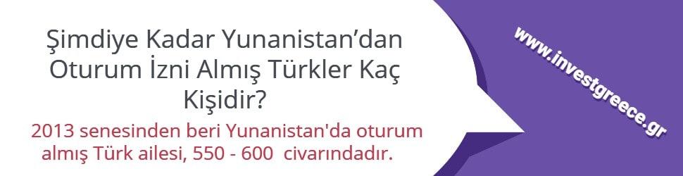 Yunanistan'dan Oturum İzni Alan Türk Vatandaşı Sayısı