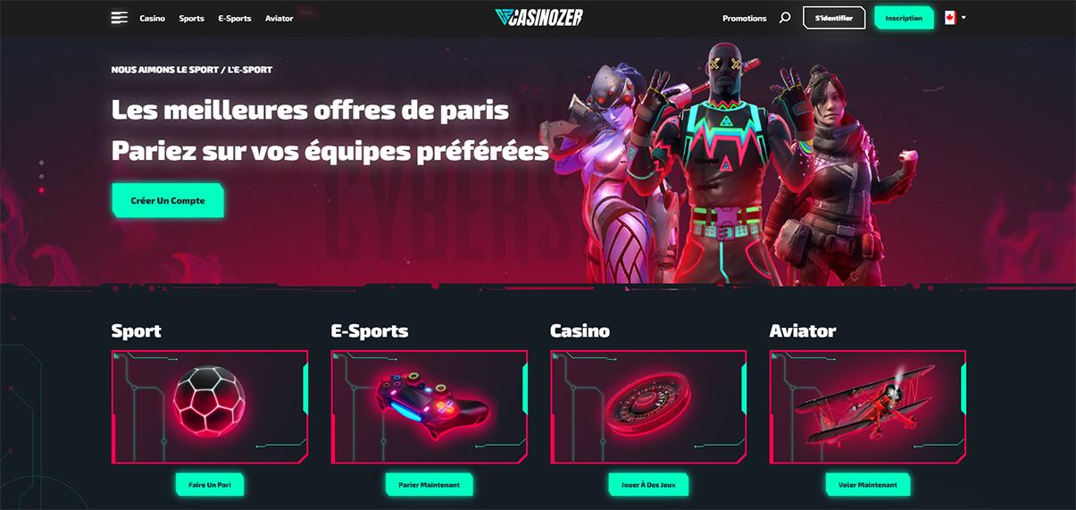 image de présentation du casino Casinozer en France