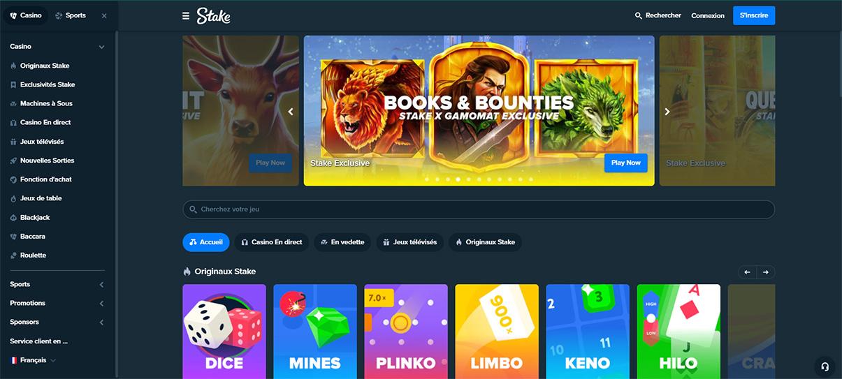 image de présentation de la plateforme du casino Stake en France