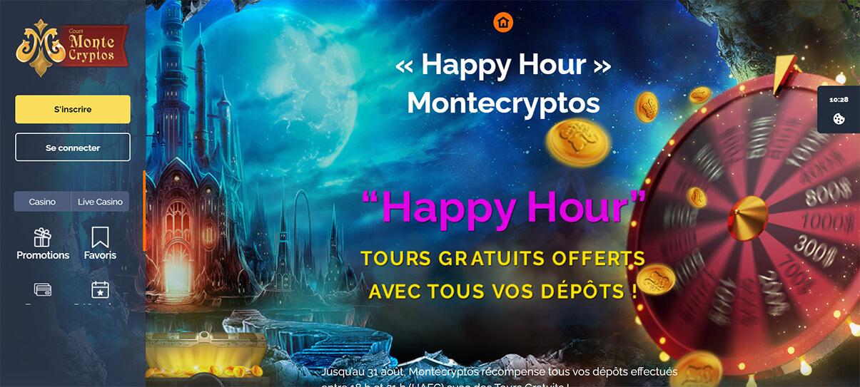 image de présentation bonus réguliers du casino Montecryptos en France