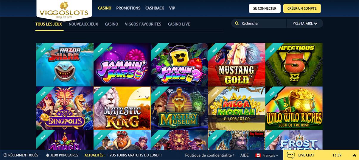 image de présentation machine a sous du casino viggoslots en France