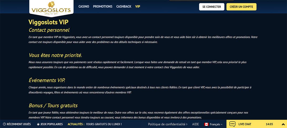 image de présentation programme vip du casino viggoslots en France