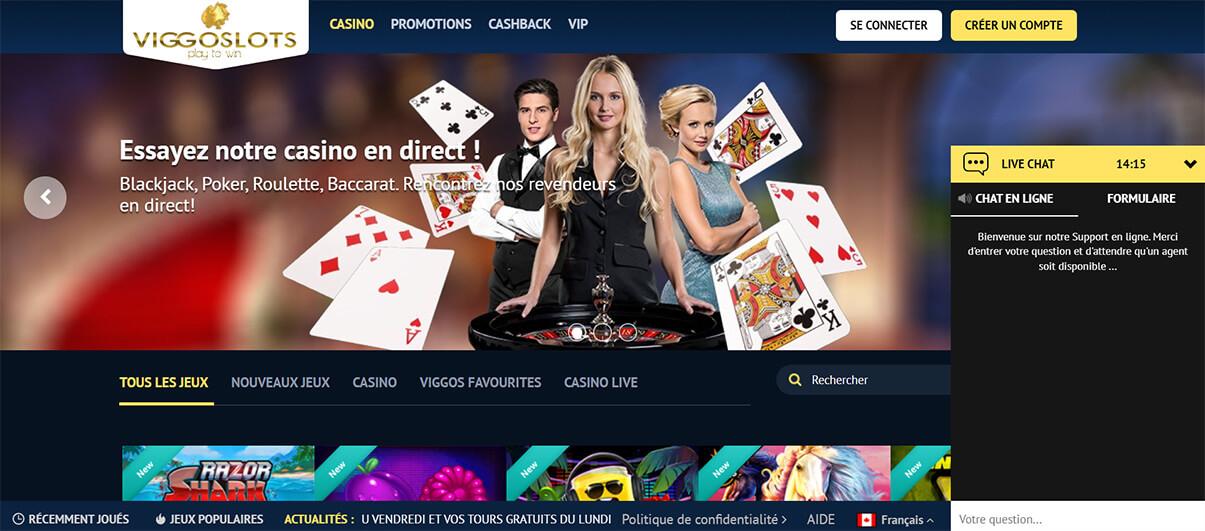 image de présentation chat du casino viggoslots en France