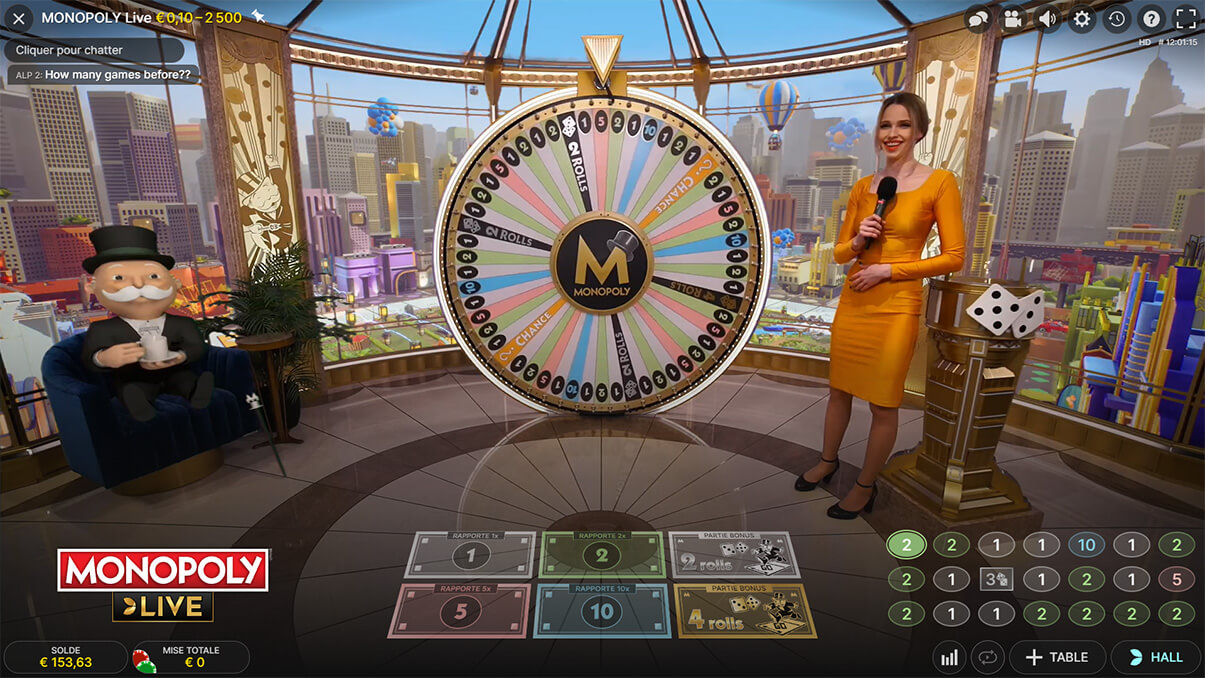 image de présentation du jeu Monopoly Live