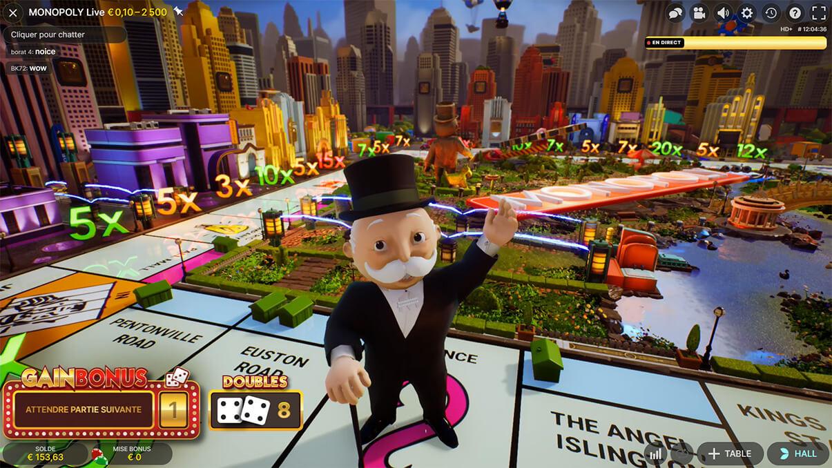 image de présentation du plateau 3D du jeu Monopoly Live