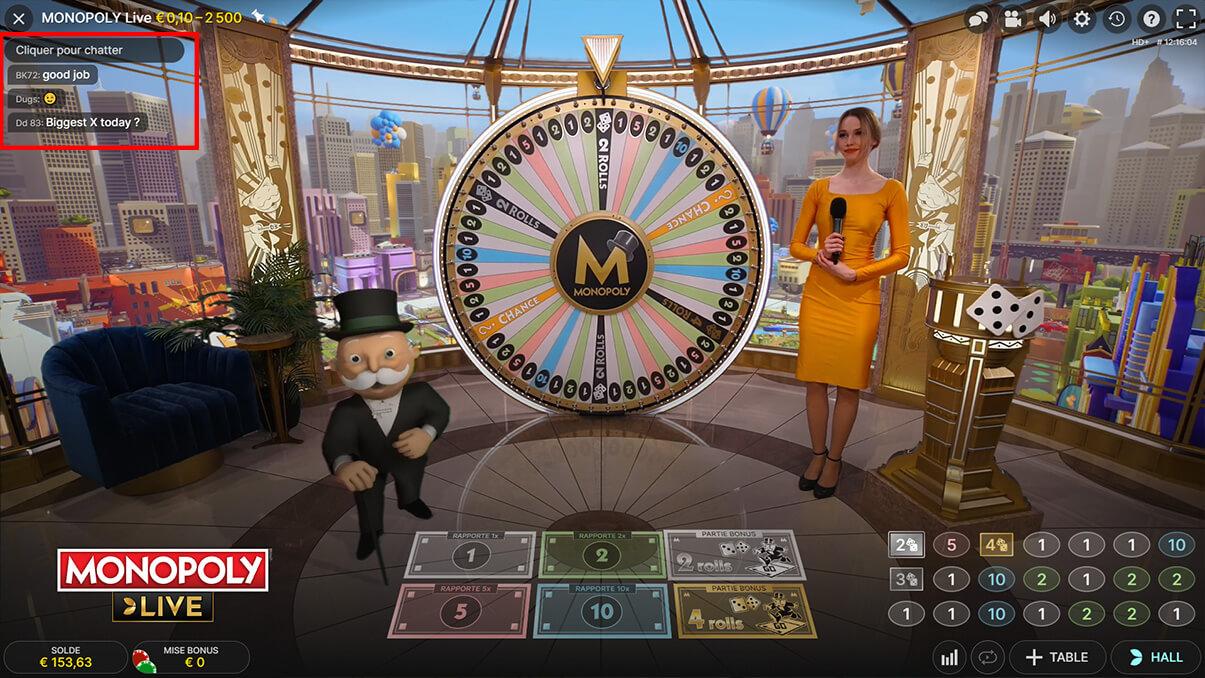 image de présentation du chat en ligne du jeu Monopoly Live