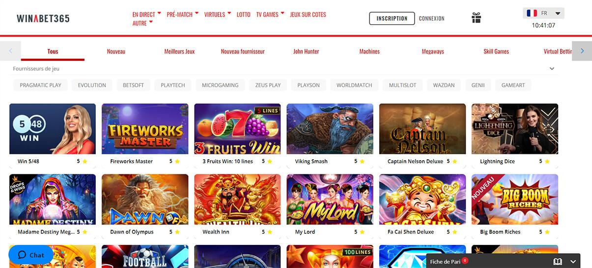 image de présentation casino en ligne du casino Winabet365