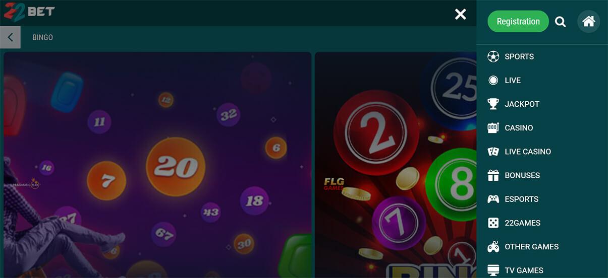 22bet казино телефон и таблет режим презентация изображени