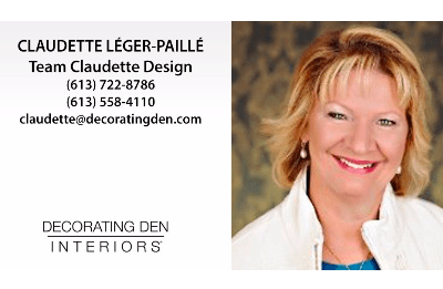 Claudette Leger-Paille - Team Claudette Design - Decorating Den Interiors