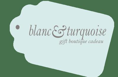 blanc et turquoise
