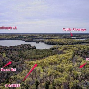 5 Acre Lot with Access to 3 Lake Chain in Presque Isle 1