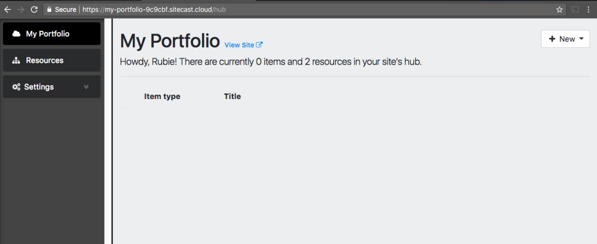 Sitecast Content Hub