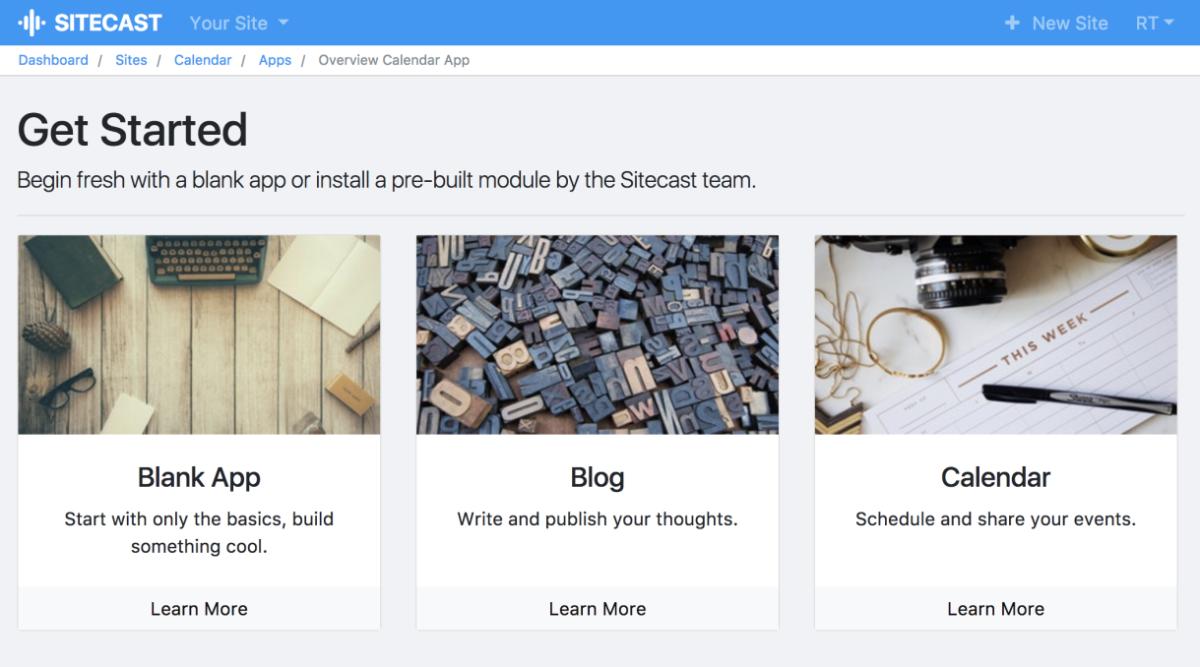 Sitecast Blank App