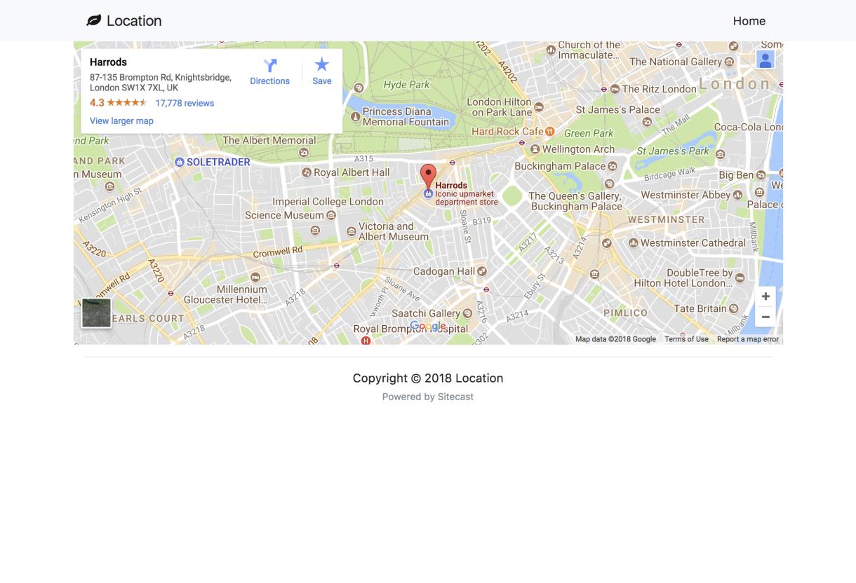 Sitecast And Google Map API