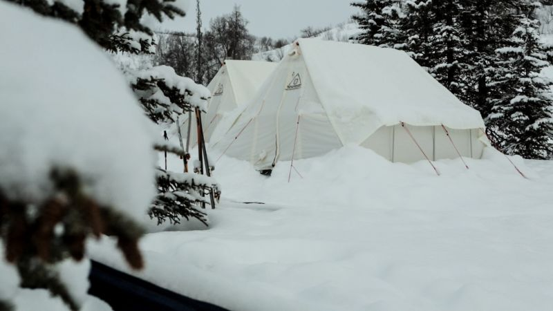 uk availability 0fa2b 133bb Canvas Tents for Winter Camping | Snowtrekker Canvas Tents ...