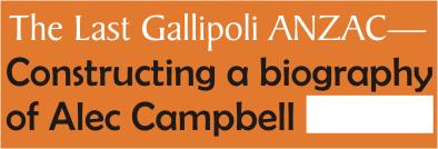The Last Gallipoli ANZAC