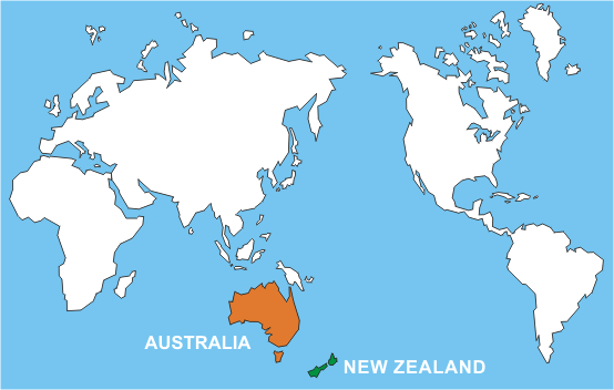 New Zealand Australia Map.Part 1 Australia And New Zealand The Anzac Connection Anzac