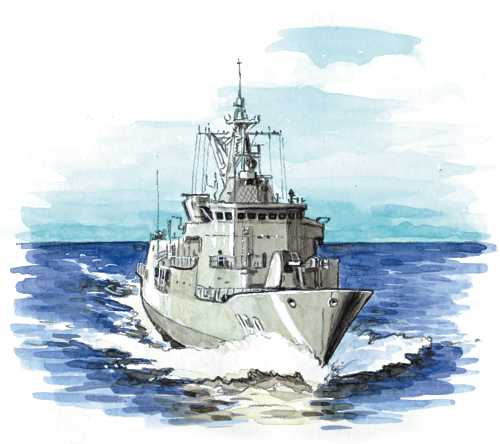 sailors mostly fight and defend from their ships and submarines at sea