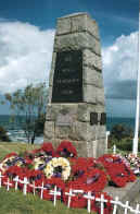 A typical town war memorial on ANZAC Day