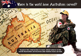where in the world have Australians served