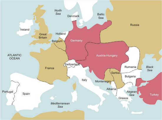 Political Map Ww1 Europe Anzac Day Commemoration Committee