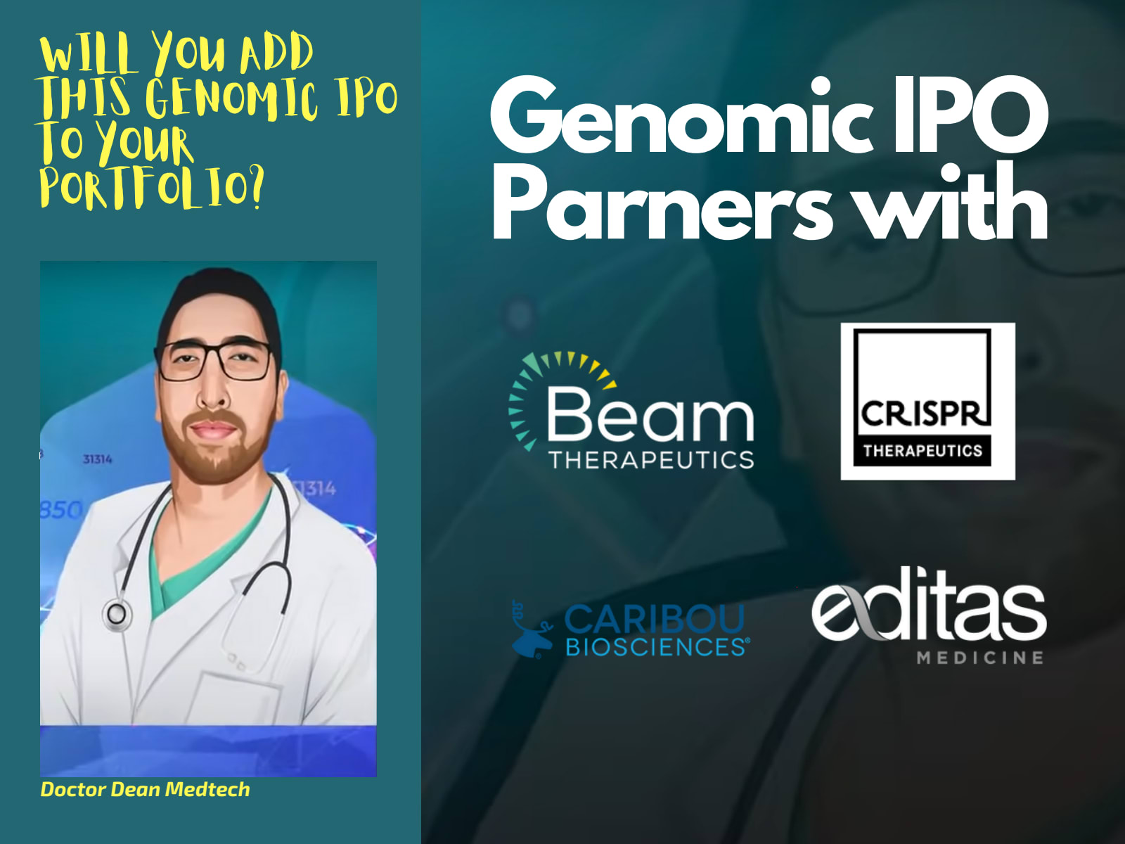 Will you add this Genomic IPO to your portfolio?