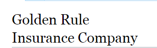 Golden Rule Insurance Company Insurance Phone Number