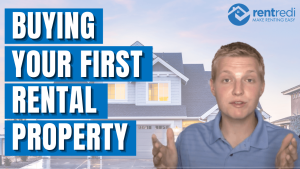 youtube thumbnail feature dan kohan with text that reads: Buying Your First Rental Property