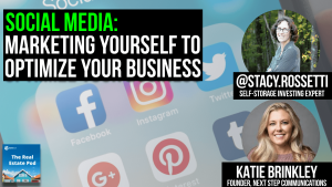 """grow real estate business with social media thumbail image. Text reads """"Social media marketing yourself to optimize your business"""""""