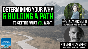text reads: finding your why and building a path to getting what you want