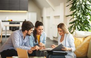 homevestors image: three people chatting